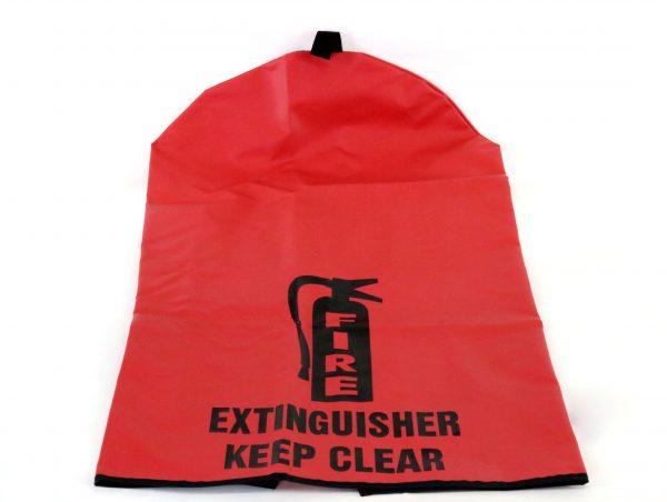 Heavy Duty Fire Extinguisher Cover--Medium Back