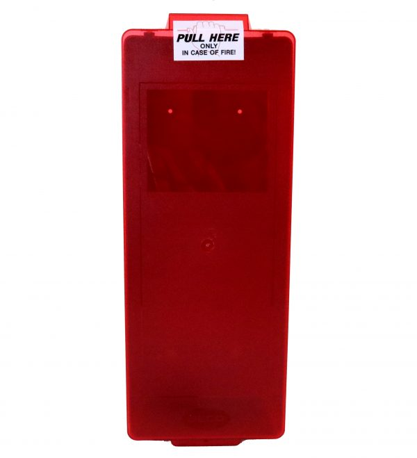 """Red Tub Fire Extinguisher Cabinet max of 24"""""""