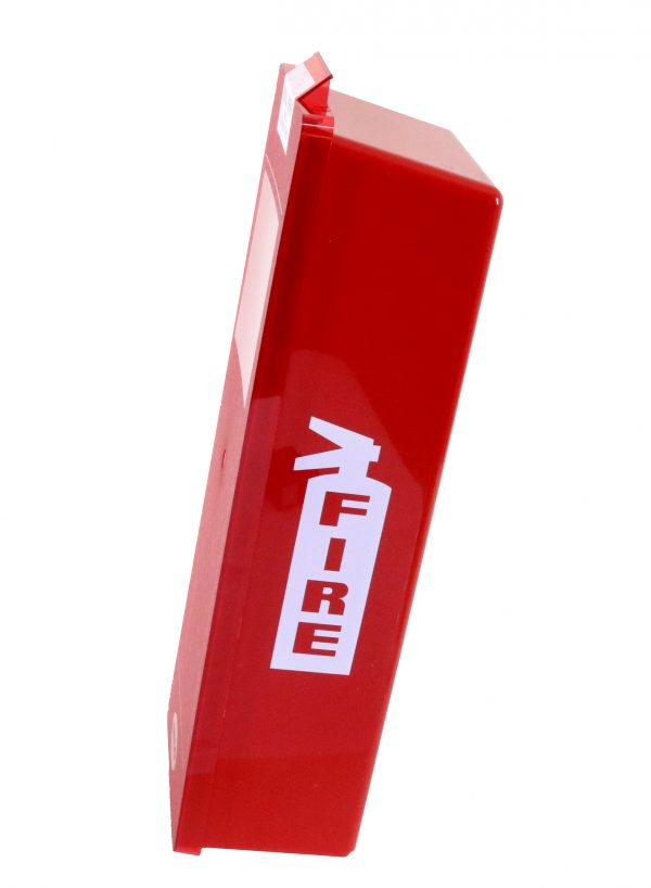 Red Tub Fire Extinguisher Cabinet max of 24""