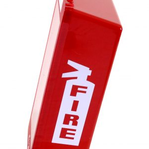 Red Tub Fire Extinguisher Cabinet