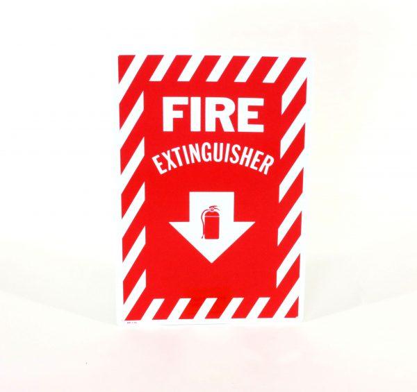 Rigid Plastic Fire Extinguisher Sign