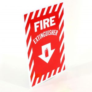 Rigid Plastic Fire Extinguisher Sign
