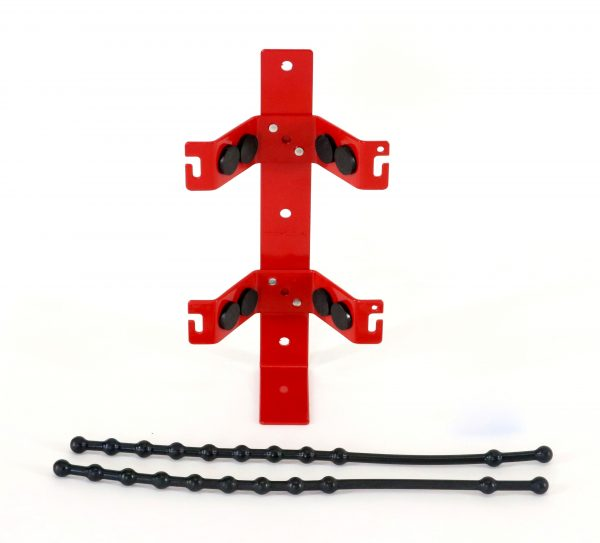 Rubber Strap Fire Extinguisher Bracket Front Open