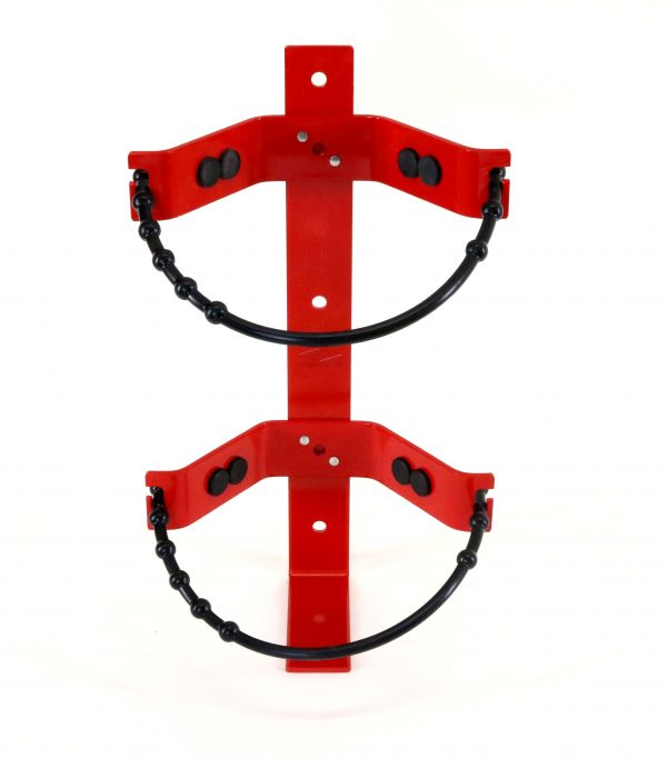 Rubber Strap Fire Extinguisher Bracket 20lb Front Closed