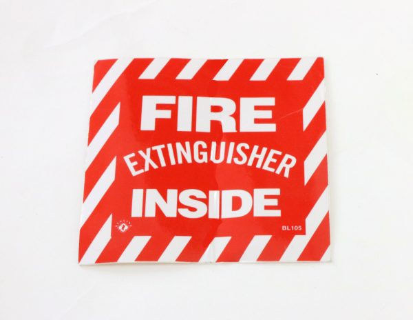 Adhesive Fire Extinguisher Label